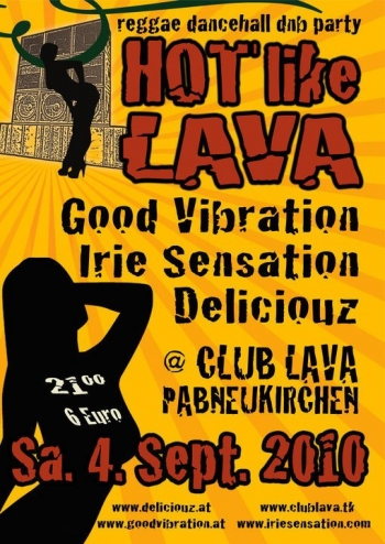 Flyer - Hot Like Lava ls. Good Vibration - 2010